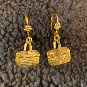 🆕 LISTING! Longaberger Basket Earrings